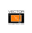 design studio icon of digital drawing pad vector image vector image