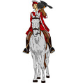 Falconer on horse vector image vector image