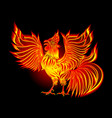 fire cock by new year 2017 - symbol of the vector image vector image
