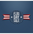 Flag Day Sale Banner with Text and Shadow vector image vector image