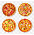 fresh pizza with tomato cheese mushroom sausage vector image