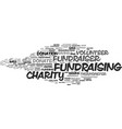 fundraiser word cloud concept vector image