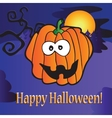 greeting card for Halloween vector image vector image