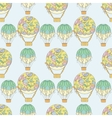 Hand-drawn seamless air balloon pattern vector image