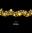 happy new year 2019 gold star decoration card vector image vector image