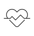 heartbeat heart pulse monochrome icon vector image vector image