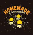homemade lemonade design with three floated lemons vector image vector image