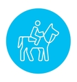 Horse riding line icon vector image vector image