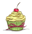 Ice cream sundae cupcake vector image