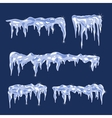 Ice sheets with icicles vector image vector image