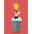 Idea form garbage vector image vector image