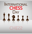 international chess day vector image