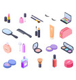 isometric cosmetics cosmetic product bottle vector image