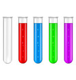 lab vials with colored liquid vector image