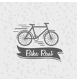 Logo sign or badge template bicycle and the words vector image