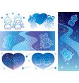 milky way 6 star festival template vector image vector image