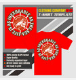 mock up clothing company t-shirt templateskulls vector image vector image