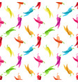 multicolored chili pepper seamless pattern the vector image