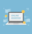 online banking vector image