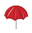 red sun umbrella symbol icon design vector image vector image