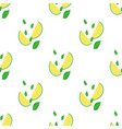 seamless summer pattern with slices and whole vector image vector image