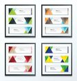 Set Bright modern abstract banner design 4 in 1 vector image vector image