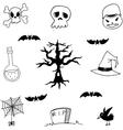 Set of doodle halloween vector image vector image