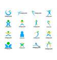 set people logo design vector image vector image