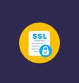 ssl icon flat vector image vector image