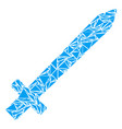 sword mosaic of triangles vector image vector image