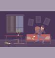thief housebreaker in a room vector image