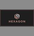 Up hexagon logo design inspiration