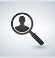 user search icon magnifying glass icon vector image vector image
