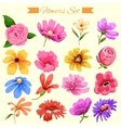 Watercolor style colorful flower vector image vector image