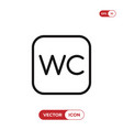 wc sign icon vector image vector image