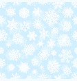 winter white snowflakes seamless pattern vector image vector image