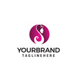 women beauty and spa logo design concept template vector image