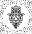 Hand drawn sketch of traditional Jewish religious vector image
