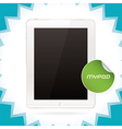 White Glossy Tablet Pad vector image