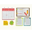 Calendar with note notebook plan vector image