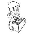 girl scout cookies outline vector image
