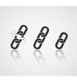 Chain Icon Collection Link Symbol vector image