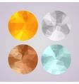 Set of medals gold silver bronze platinum in vector image