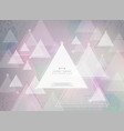 abstract futuristic technology triangle colorful vector image vector image
