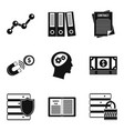 access to data icons set simple style vector image vector image