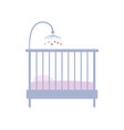 baby crib icon in pastel vintage colors furniture vector image