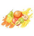 background with ripe fruits vector image vector image