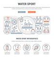 banner water sport vector image