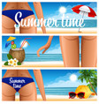 beach party banner vector image