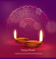 beautiful hindu festival of diwali background vector image vector image